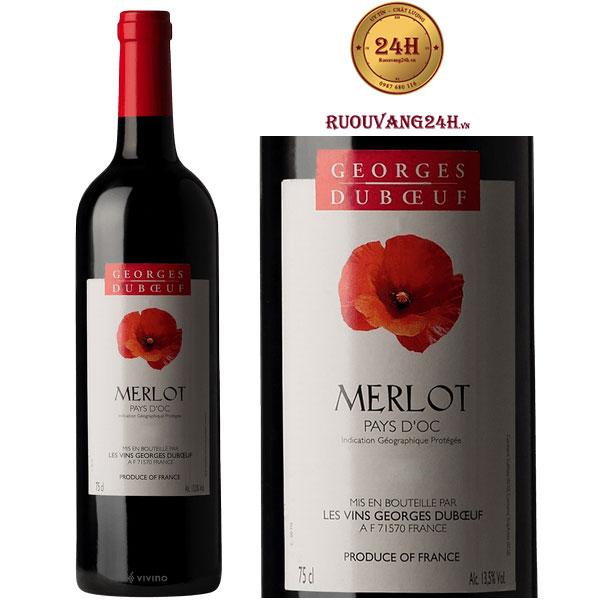 Rượu vang Georges Duboeuf Merlot Pays d'Oc IGP