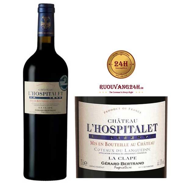 Rượu vang Gerard Bertrand Chateau l'Hospitalet red La Clape