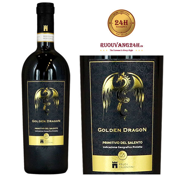 Rượu vang Golden Dragon Primitivo del Salento