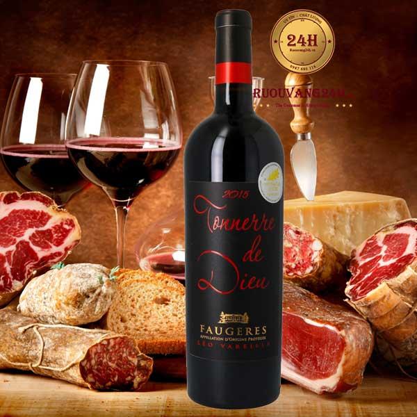 Rượu vang Leo Vareille Tonnerre De Dieu Faugeres