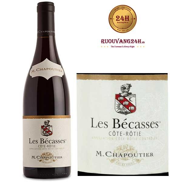 """Rượu vang M.Chapoutier """"Les Becasses"""" Cote Rotie"""