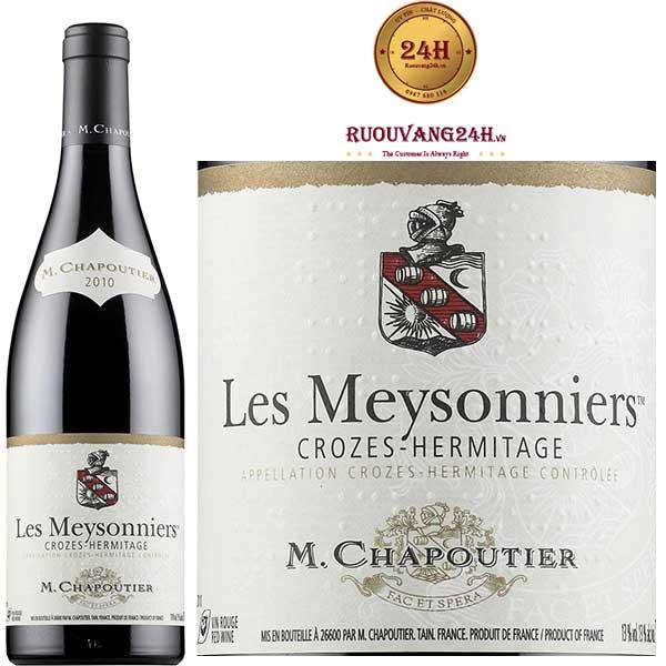 """Rượu vang M.Chapoutier """"Les Meysonniers"""" Crozes Hermitage"""