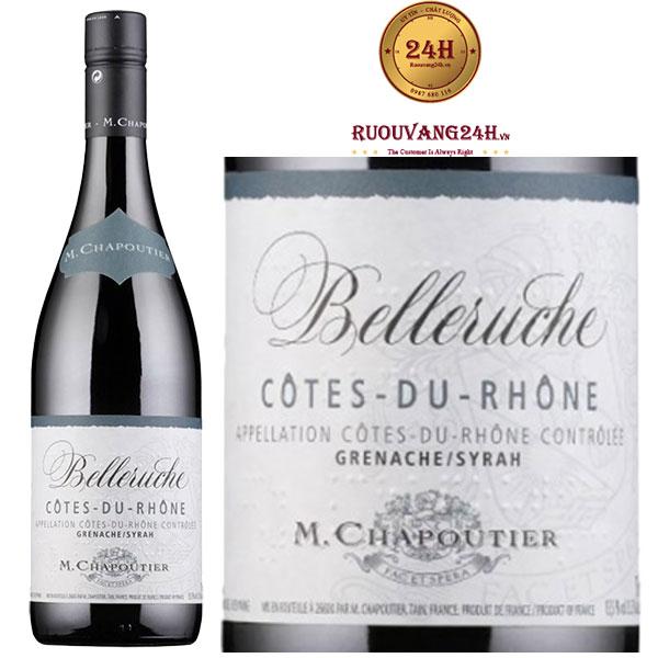 Rượu vang M.Chapoutier Belleruche Cote du Rhone