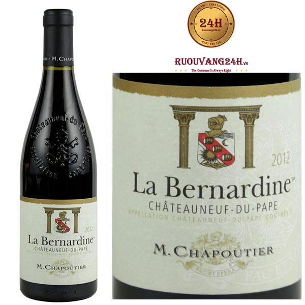 Rượu Vang M.Chapoutier La Bernardine Chateauneuf Du Pape
