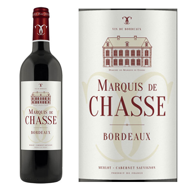 Rượu vang Marquis de Chasse Oaked Red Bordeaux