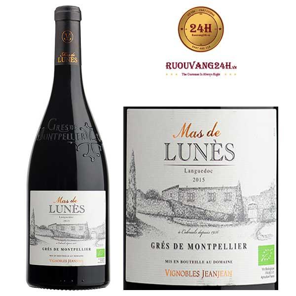Rượu Vang Mas De Lunes