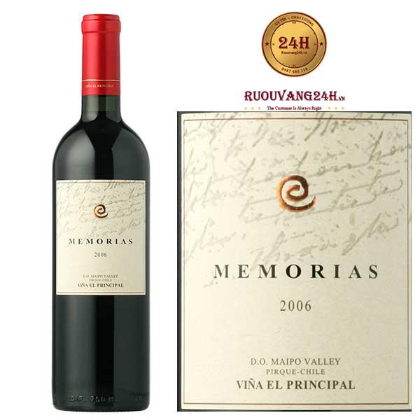 Rượu vang Memorias Vina El Principal