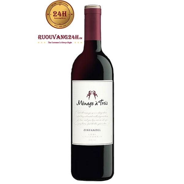 Rượu vang Menage A Trois Zinfandel