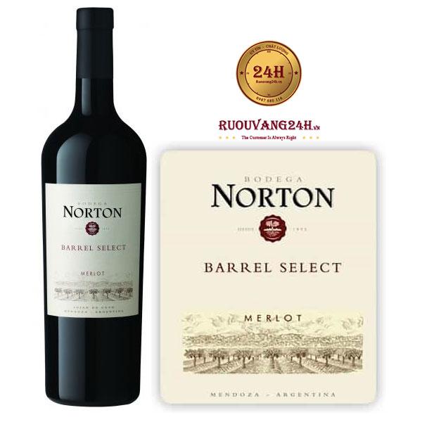 Rượu vang Norton Barrel Select Merlot