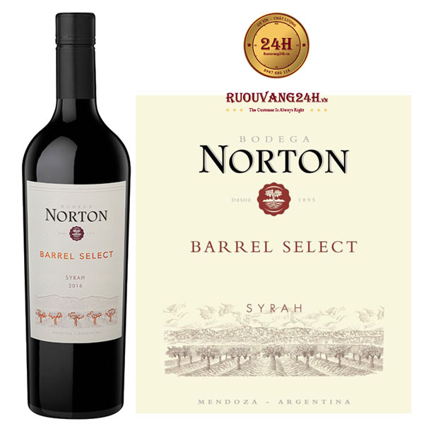 Rượu vang Norton Barrel Select Syrah