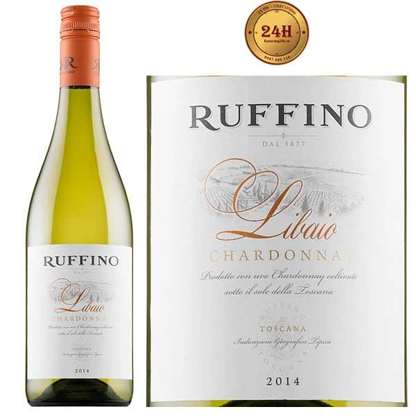 Rượu vang Ruffino Libaio Chardonnay