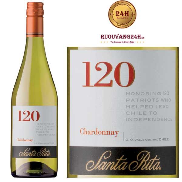 Rượu vang Santa Rita 120 Chardonnay