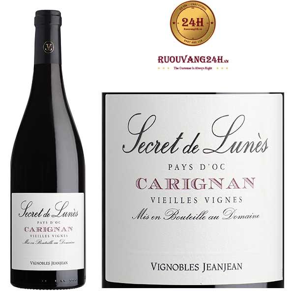 Rượu vang Secret de Lunes BIO Carignan