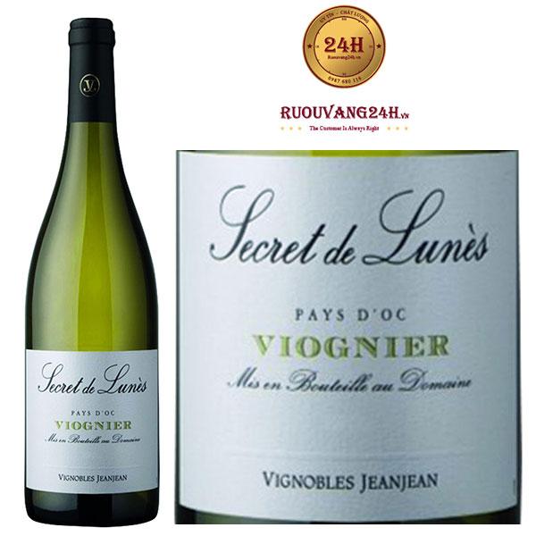 Rượu vang Secret de Lunes BIO Viognier