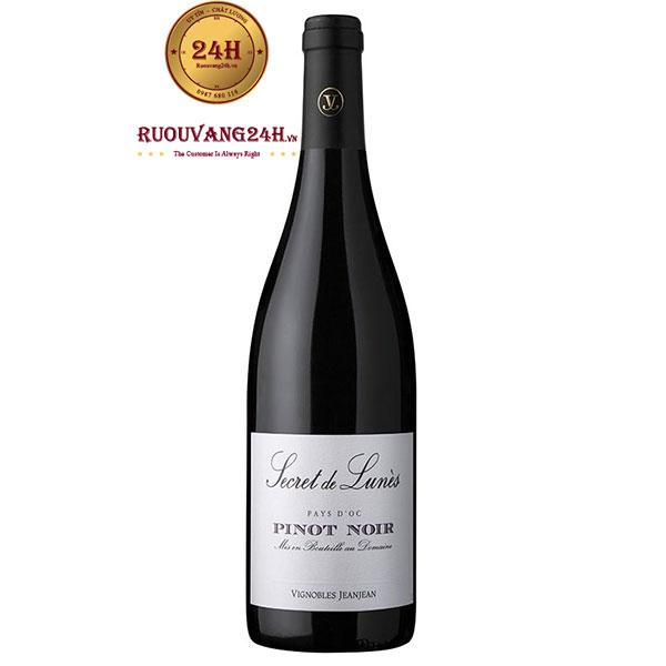 Rượu vang Secret de Lunes Pinot Noir