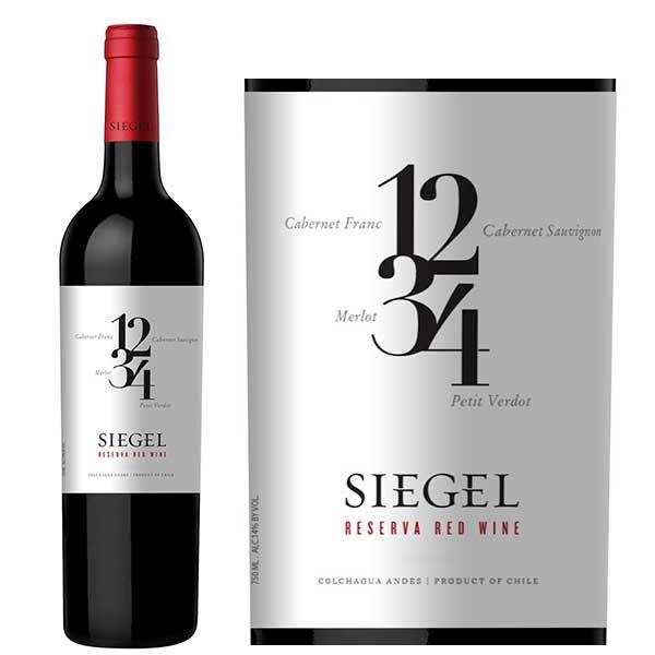 Rượu vang Siegel Reserva Red Wine 1234