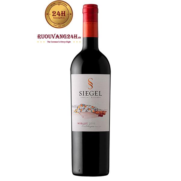 Rượu vang Siegel Special Reserve Merlot