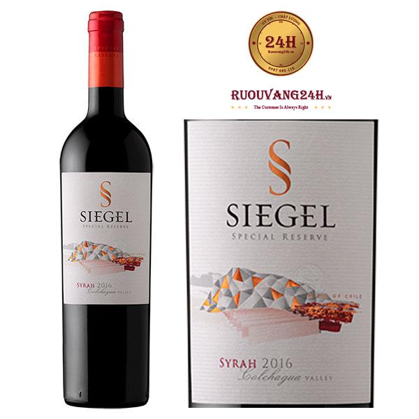 Rượu vang Siegel Special Reserve Syrah