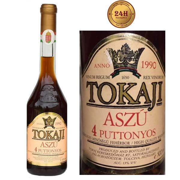 Rượu vang Tokaji Aszú 4 Puttonyos Sweet White
