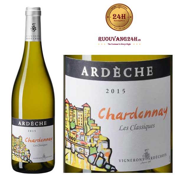 Rượu vang Vignerons Ardechois Les Classiques Chardonnay