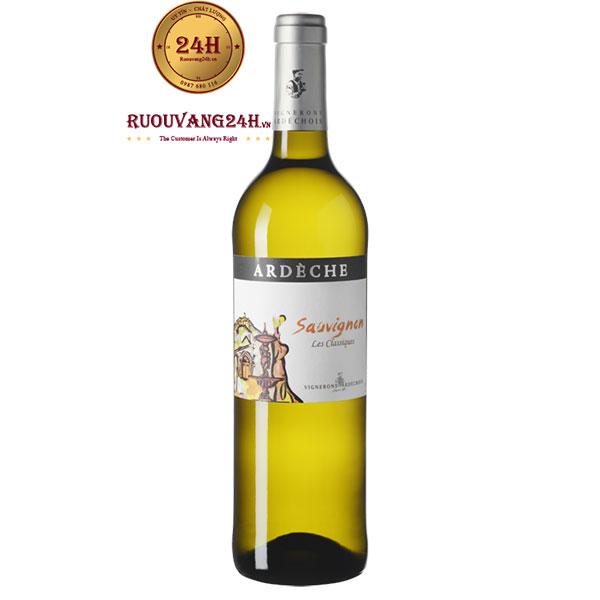Rượu vang Vignerons Ardechois Les Classiques Sauvignon Blanc