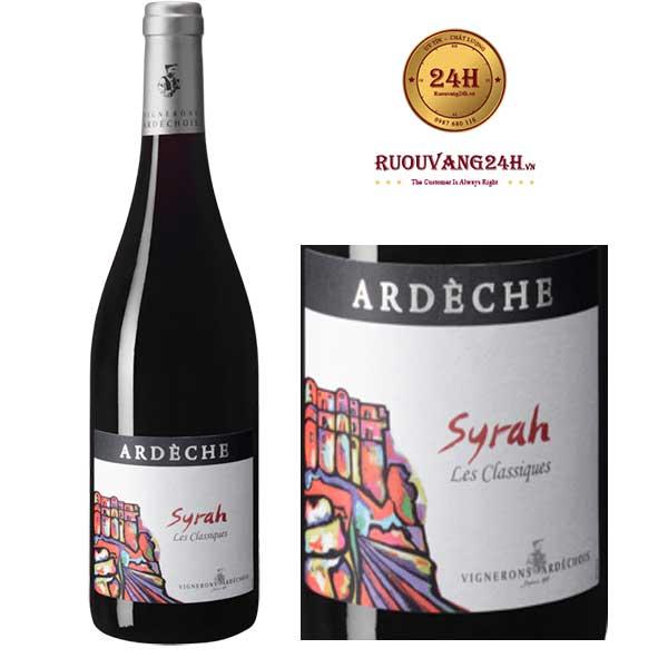 Rượu vang Vignerons Ardechois Les Classiques Syrah