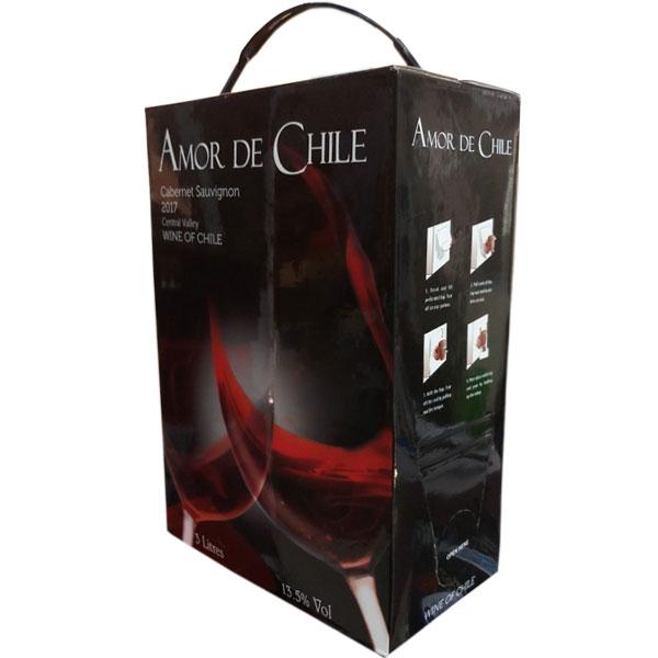 Rượu vang bịch Amor De Chile 3l