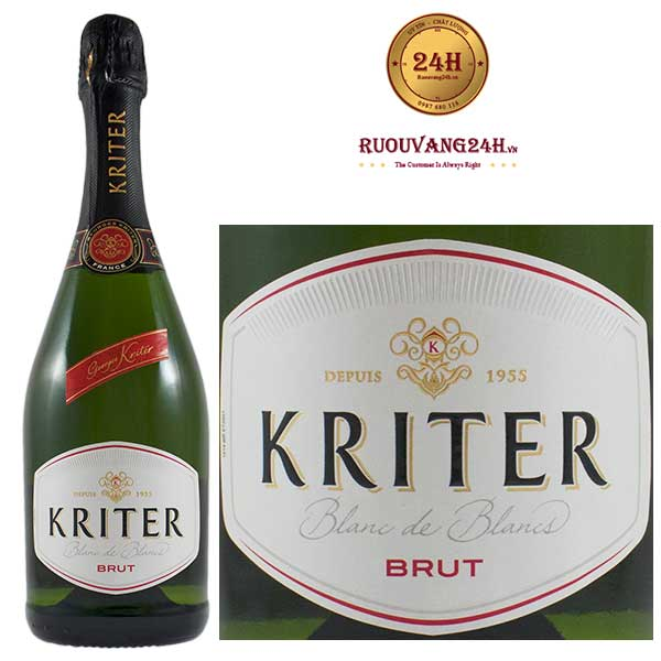 Rượu vang nổ Kriter Blanc de Blancs Brut Chardonnay