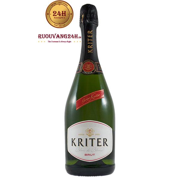 Rượu Champagne Kriter Blanc De Blancs Brut Chardonnay