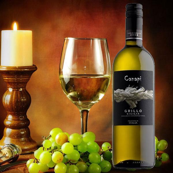 Rượu Vang Canapi Grillo IGT Sicilia