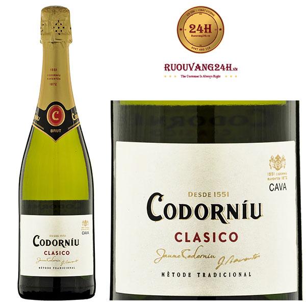 Rượu Vang Codorniu Clasico Sparkling Brut Do Cava