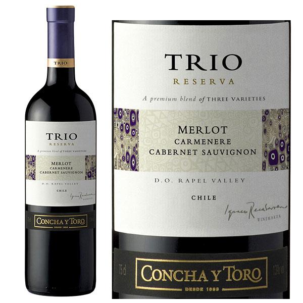 Rượu Vang TRIO Reserva Merlot - Carmenere - Syrah