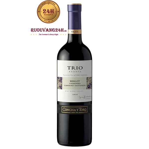 Rượu Vang TRIO Reserva Merlot – Carmenere – Syrah