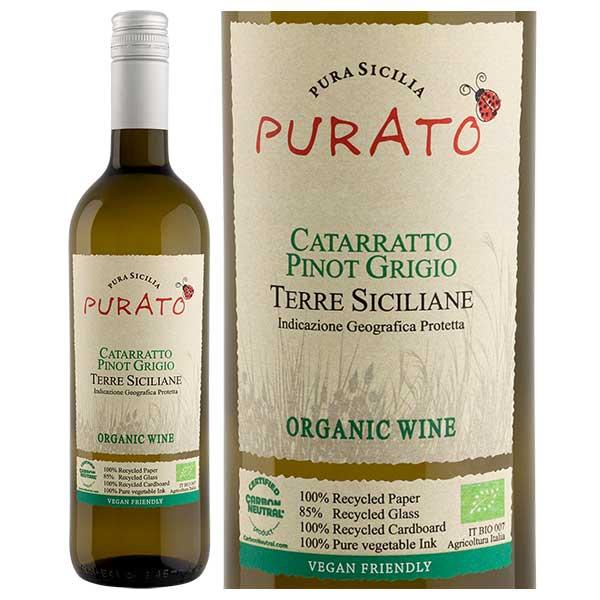 Rượu Vang Purato Catarratto Pinot Grigio Organic IGT Sicilia