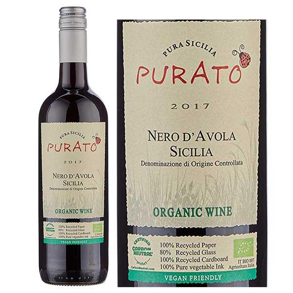 Rượu Vang Purato Nero d'Avola Organic IGT Sicilia