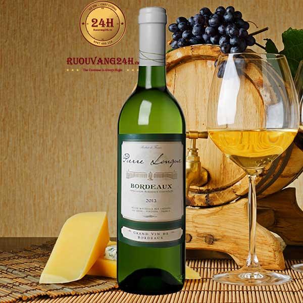Rượu Vang Bordeaux De Pierre Longue White