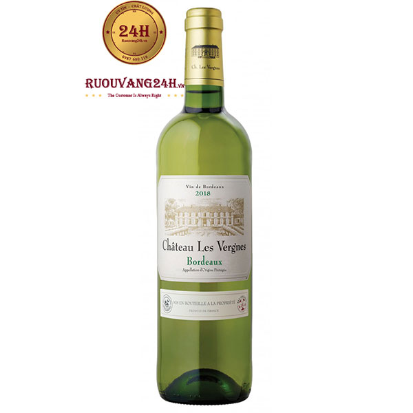 Rượu Vang Chateau Les Vergnes Bordeaux White