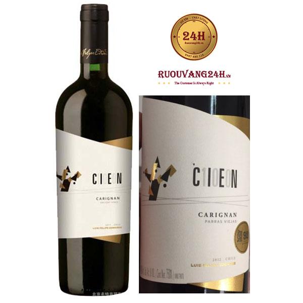 Rượu vang Cien 100 Carignan