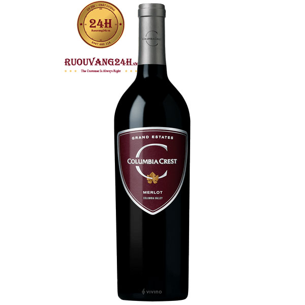 Rượu vang Columbia Crest Grand Estates Merlot