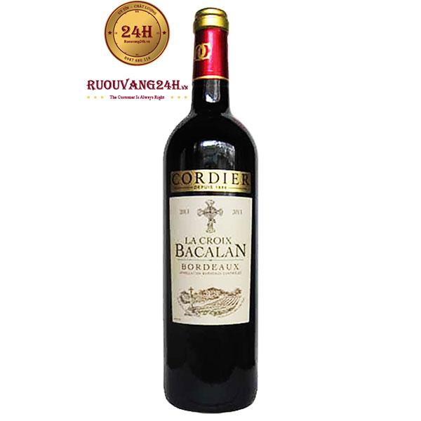 Rượu vang Cordier La Croix Bacalan Merlot