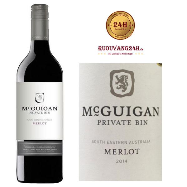 Rượu vang Mcguigan Private Bin Merlot