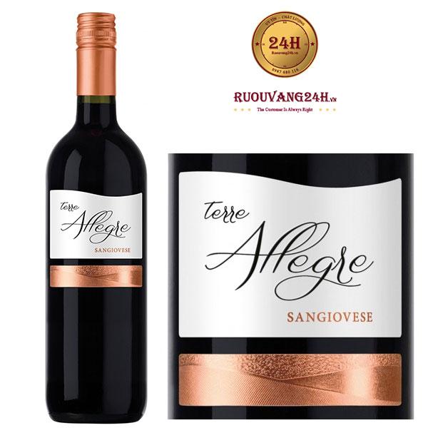 Rượu vang Terre Allegre - IGT Sangiovese