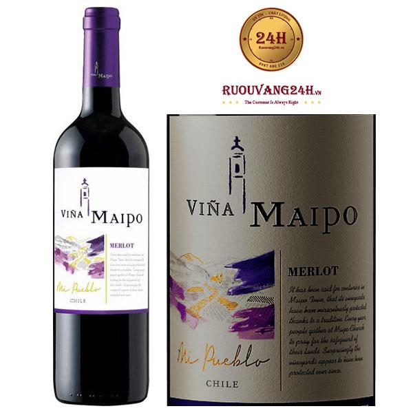 Rượu vang Vina Maipo Mi Pueblo Merlot