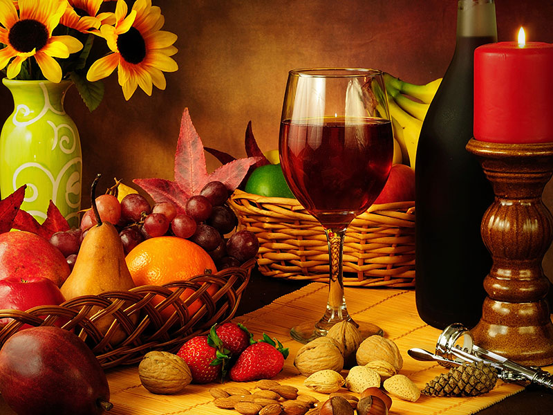 món ăn với rượu vang