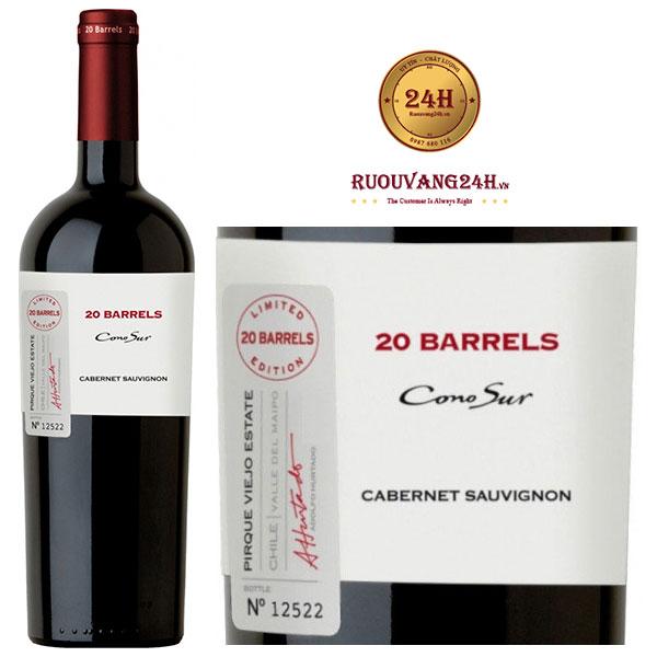 Rượu Vang Cono Sur 20 Barrel Cabernet Sauvignon