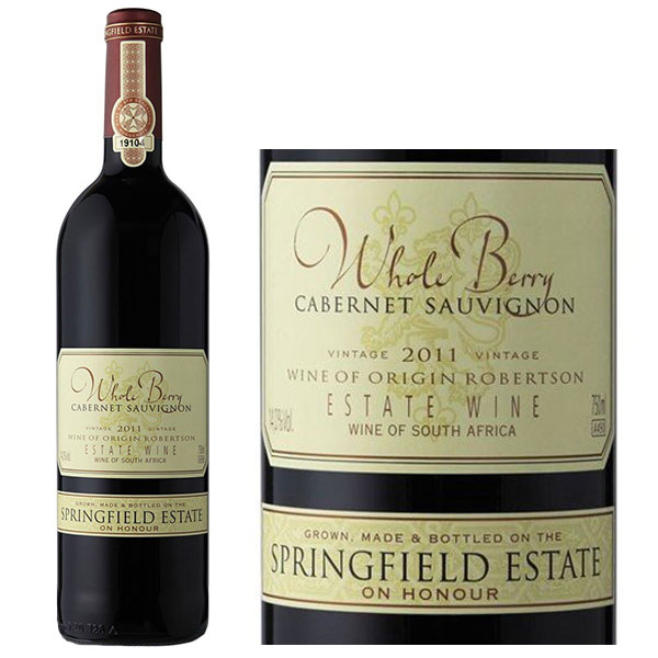 Rượu vang Springfield Estate Whole Berry Cabernet Sauvignon