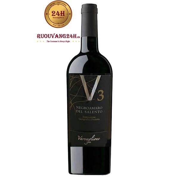Rượu Vang V3 Negroamaro Del Salento IGP