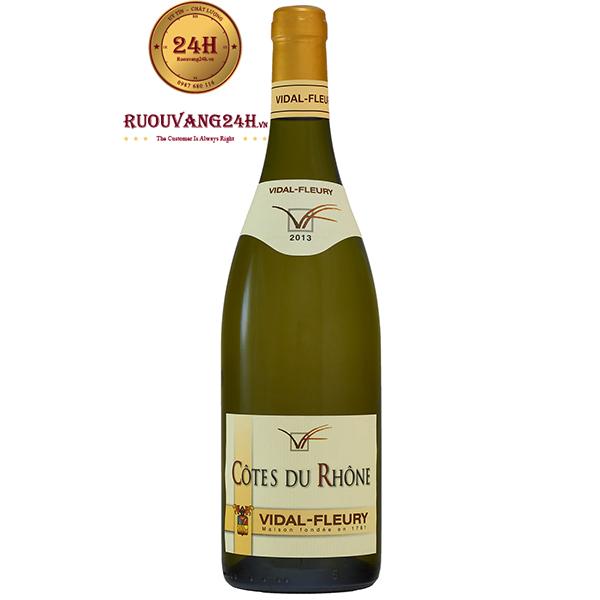 Rượu vang Vidal Fleury Cotes Du Rhone Blanc