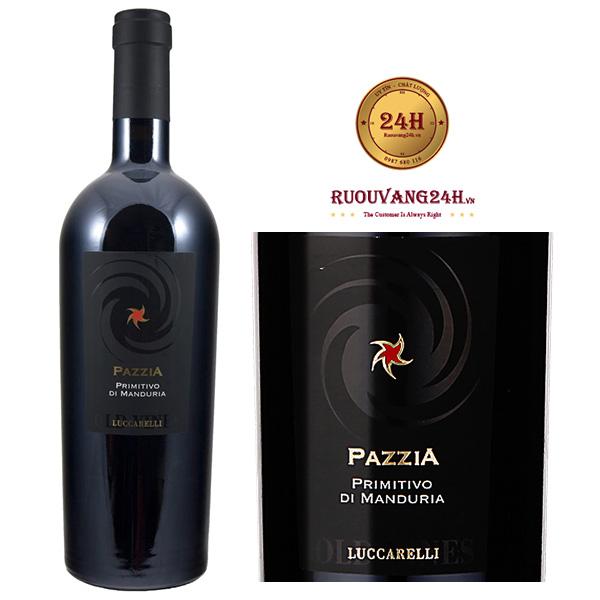 Rượu vang PazziaPrimitivo Di Manduria