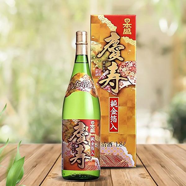 Rượu Sake Vảy Vàng Gold Keiju Kimpaku